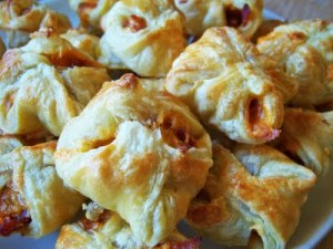 Puff Pastry Wrapped Apples with Cheddar and Bacon by Kristin at Delightfully Dowling