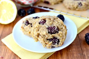 Lemon Blackberry breakfast Cookies by Kristin Porter, Iowa Girl